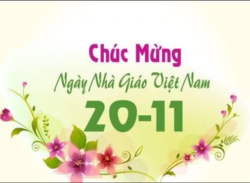 chúc mừng ngày nhà giáo Việt nam