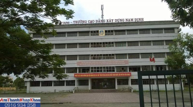 Thông tin tuyển sinh Trường Cao đẳng Xây dựng Nam Định năm 2019